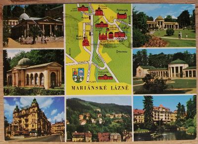Pohlednice okénková 1974 - Mariánské Lázně