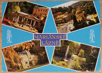 Pohlednice okénková 1975 - Mariánské Lázně