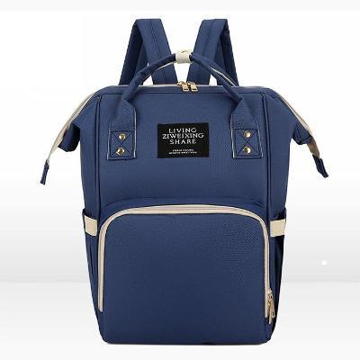 Jednobarevný batoh s kapsami na gumu 013