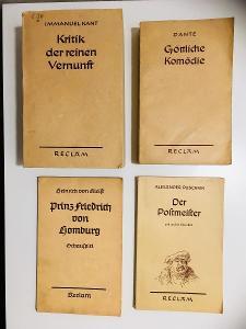 Knihy z nakl. Philipp Reclam Jun. Leipzig (Německo, 50. léta)