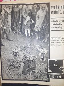 Mladý Svět srpen 1968 třetí zvláštní vydání kompletní