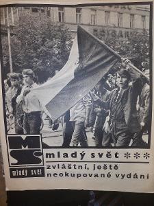 Mladý Svět srpen 1968 zvláštní vydáni kompletni vydání