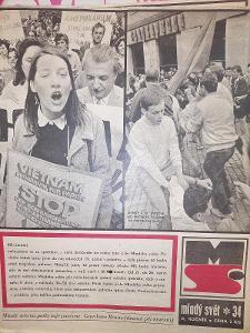 Mladý Svět srpen 1968 kompletní vydání