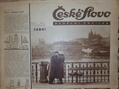 České Slovo nedělní chvilka 17.3.1935 kompletní vydání