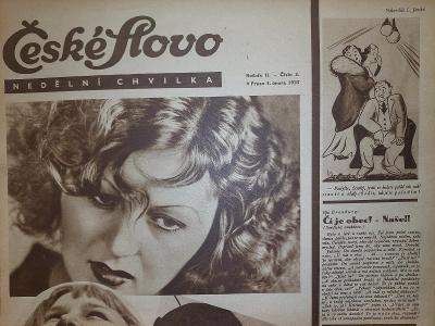 České Slovo nedělní chvilka 3.2.1935 kompletní vydání
