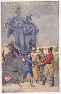 VII. VŠESOKOLSKÝ SLET V PRAZE 1920 - 6-WY16