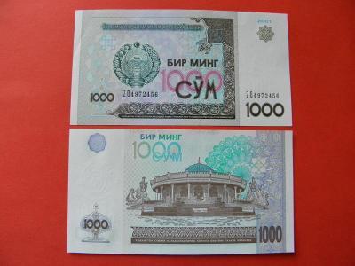 1.000 Sum 2001 Uzbekistan - P82 - UNC - /T83/