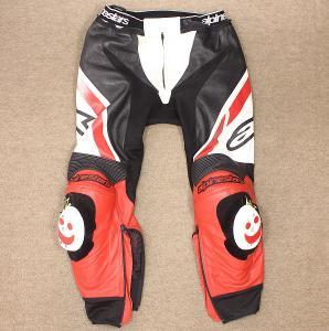 Pánské kožené motorkářské kalhoty ALPINESTARS Motegi vel. M #5b16