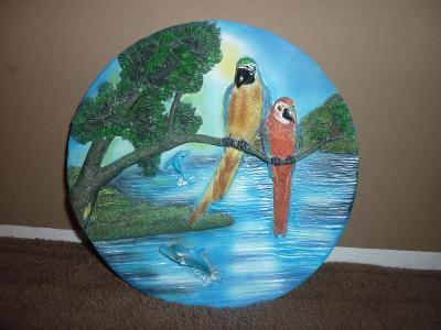Hezký dekorativní talíř