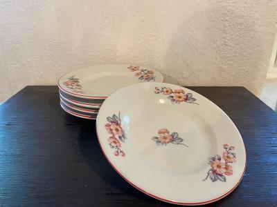 5 starých porcelánových dezertních talířů - neznačeno