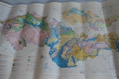 Hydrogeologická mapa ČSSR měř. 1:1000000 1966  VÍC V POPISU