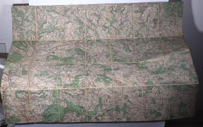 Stará mapa Mladá Boleslav, Český Dub, Vrchlabí, Hořice, Český ráj