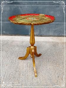 *** Starý dřevěný zdobený barokní odkládací stolek ***