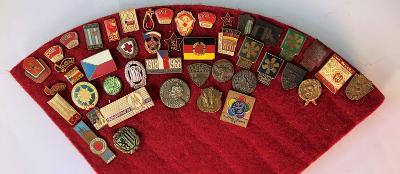 Starý set odznaků ČSSR, SSM, KSČ, TEREZÍN, SOKOL, 2. sv. válka, LEV