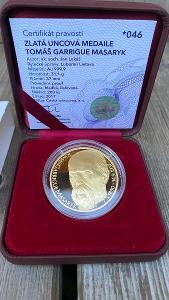 Investiční zlato - Tomáš Garrigue Masaryk - 1OZ medaile proof - č. 46!