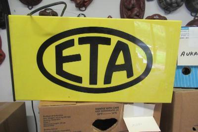 Světelkná reklama ETA