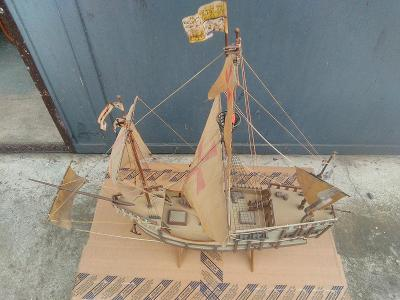 Plastikový model lodi Santa Maria, pouze osobní odběr.