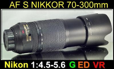 💥 Nikon AF-SNikkor 70-300mm 1:4.5-5.6 G IF ED VR *FX TELE-ZOOM*TOP👍