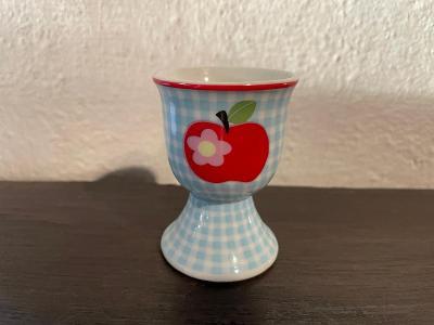 Porcelánový retro pohárek na vajíčka