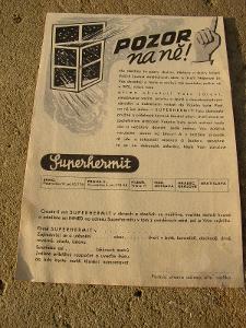 reklamní leták- SUPERHERMIT