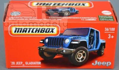 Matchbox Power Grab ´20 Jeep Gladiator - poštovné v popise