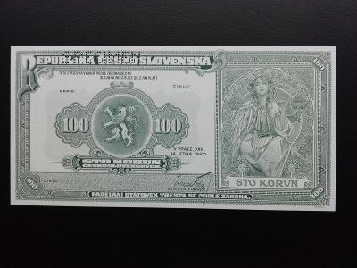 100 KORUN 1920 (2020) ALFONS MUCHA ,SPECIMEN, NÍZKÝ NÁKLAD,UNC!