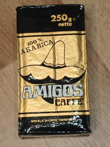 italská mletá káva Amigos 100% Arabica