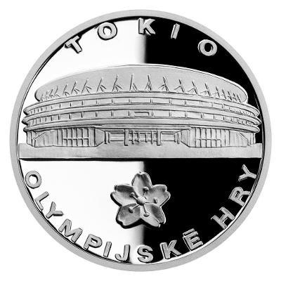 Stříbrná medaile Olympijské hry v Tokiu 2021 proof
