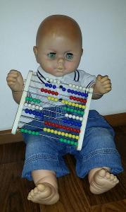 krásná stará NDR panenka - miminko *54cm