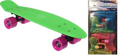 Skateboard XQ Max délka 55 cm, nosn.80 kg + dárek vod.pistolky
