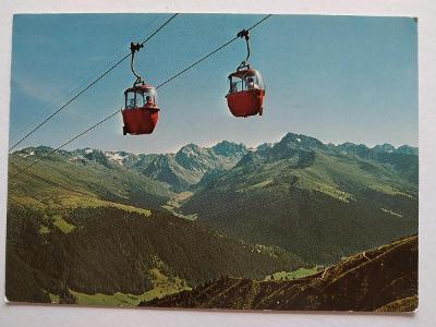 Pohlednice Švýcarsko Alpy Lanovka VF