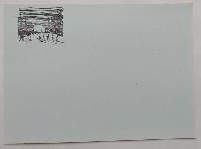 J.Foglar - korespondenční lístek MODRÝ čistý