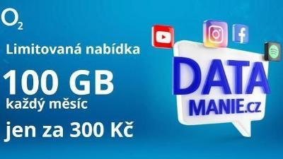 100 GB Datamánie od O2.
