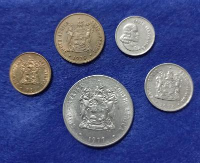 JAR set 1, 2, 5, 10 cent, 1 rand