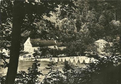 Horní Žleb Pion. tábor děti stany okr. Šternberk