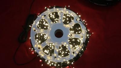 Vánoční venkovní osvětlení 500Led 50m řetěz Teplá bílá