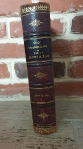 Starožitný Geographisches Andrees handatlas 1899-KRÁSNÁ VAZBA📚