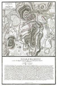 Lovosice  bitva, Coentgen, mědiryt (1770)
