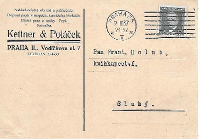 Firemní lístek Praha