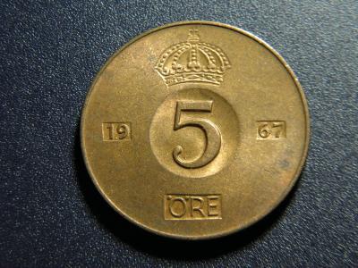 Švédsko 5 Öre 1967U XF č32371