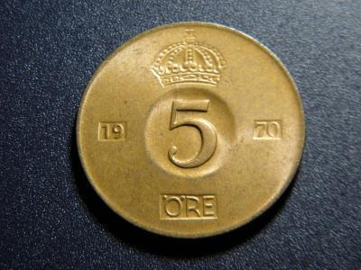 Švédsko 5 Öre 1970U XF č32393