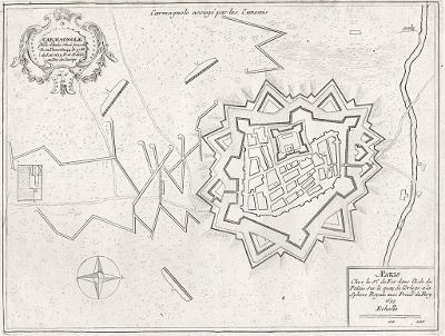 Carmagnola, N. de Fer, mědiryt, 1705