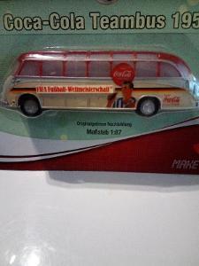 Starší Sponzorský/ Reklamní Autobus Coca Cola Team Bus 1954