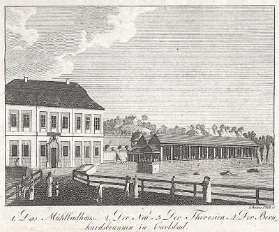 Karlovy Vary, Hyllos, mědiryt , 1820
