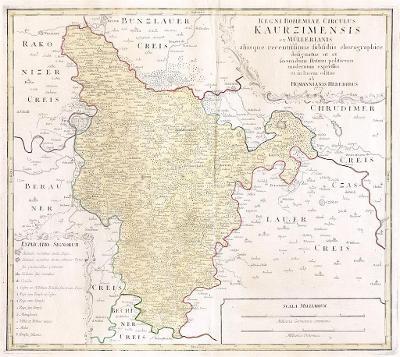 Homann dědicové : Kouřimský kraj, mědiryt, 1773