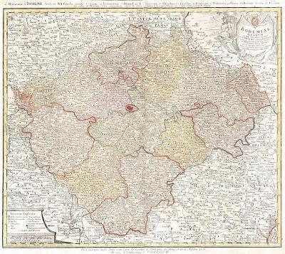 Homann dědicové : Bohemiae Regnum, mědiryt, (1740)