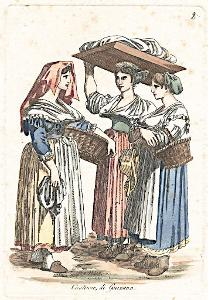 Genzano kroj, kolor. mědiryt, (1810)