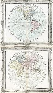 Svět dva listy, Brion, kolor. mědiryt, 1786