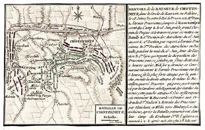 Praha obléhání 1757, Beaurain, mědiryt, 1765