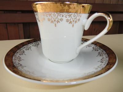 PŘÁTELSKÁ SOUPRAVA 2x šálek+podšálek --- porcelánka STRUŽNÁ